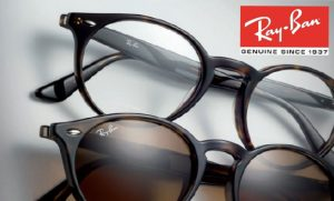 rayban round with logo